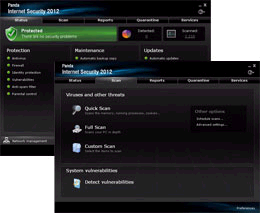 PandPanda Internet Security 2012 | Interfacea Internet Security 2012 | Interface